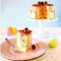 Easter cake with coffee