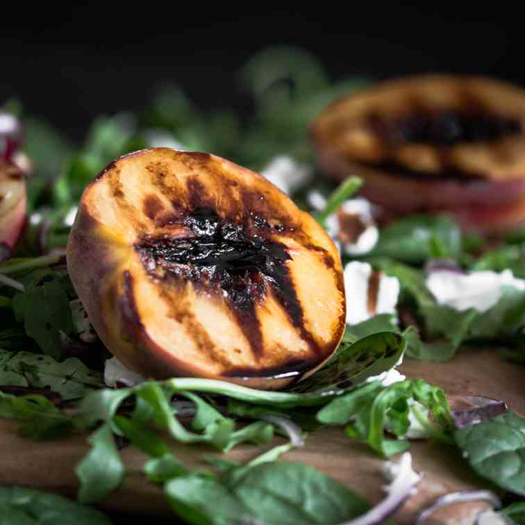 Grilled Nectarine and Peach Salad