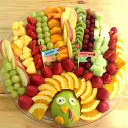 Cute Turkey Fruit Platter