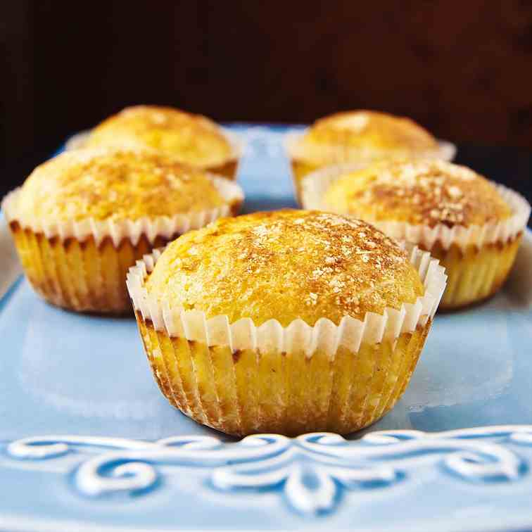 Roasted & spicy corn muffins