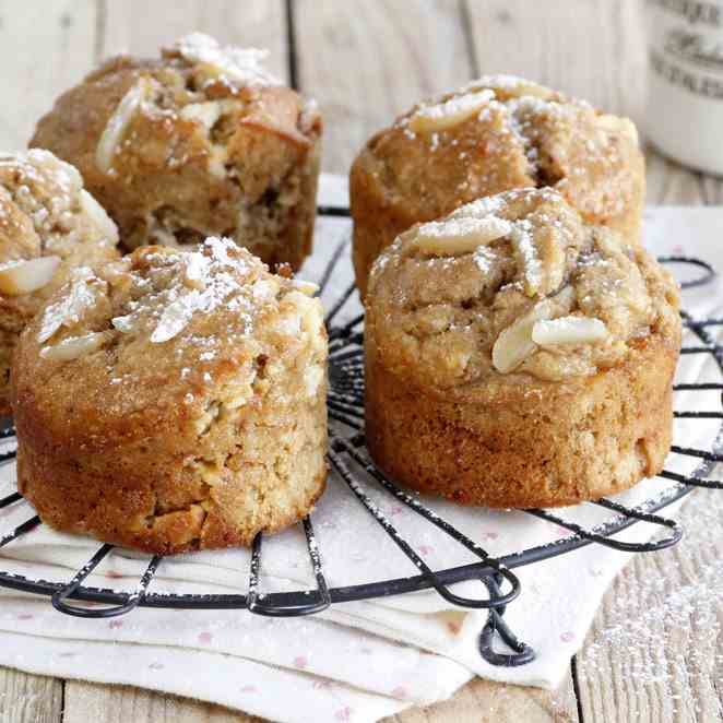 Coffee, Coconut and Almond Muffins