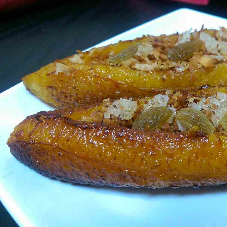 Pazham nirachath- stuffed banana