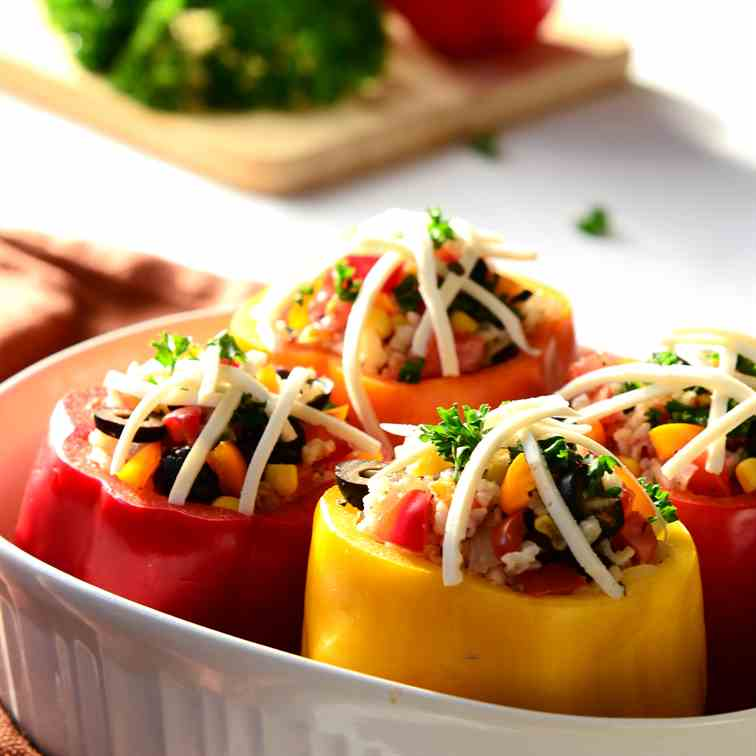 Vegetarian, Gluten-Free Stuffed Peppers