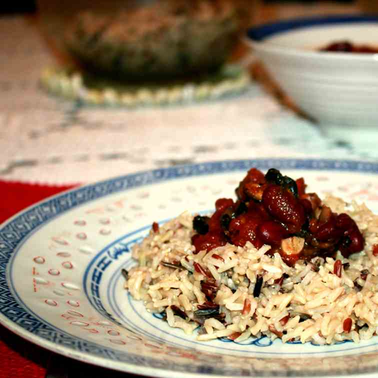 Wild Rice with Beans