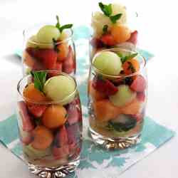 Limoncello and Mint Fruit Verrines