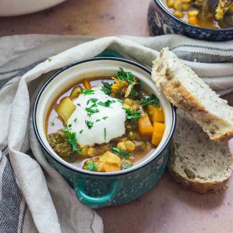 Turkish Split Pea - Vegetable Soup