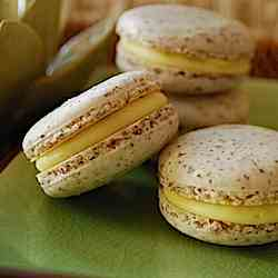 Coconut Macarons with Mango Ganache