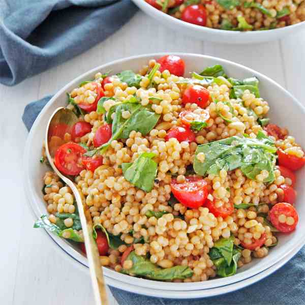 Toasted Pearl Couscous Salad
