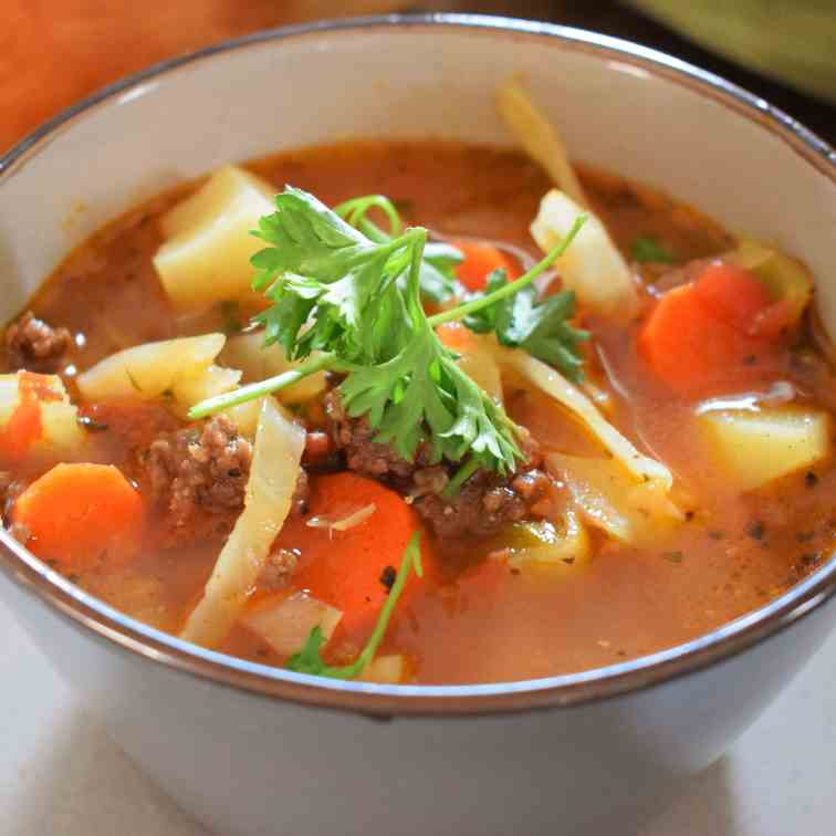 Hearty Beef - Cabbage Soup