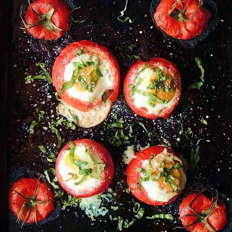 Baked Tomato Breakfast Cups