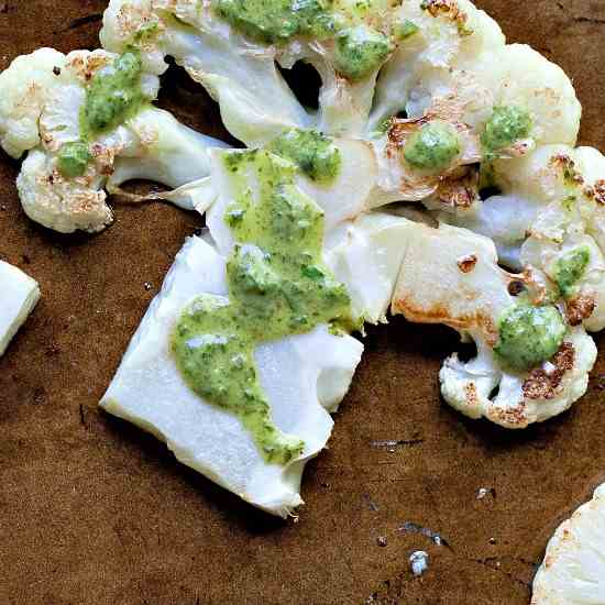 Roasted Cauliflower with Chimichurri