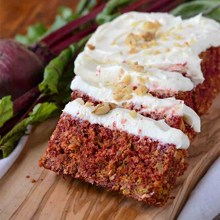 Rustic Beet Cake with Cream Cheese Icing