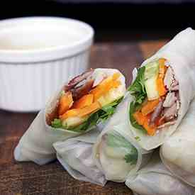 Spring Rolls with Crispy Duck