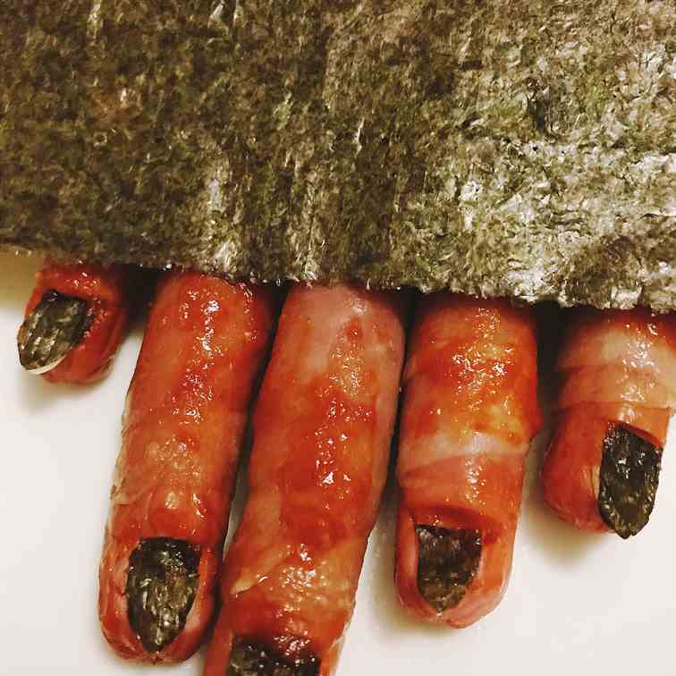 Halloween treats - Zombie fingers