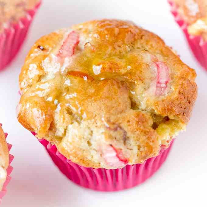 Rhubarb and Marzipan Muffins