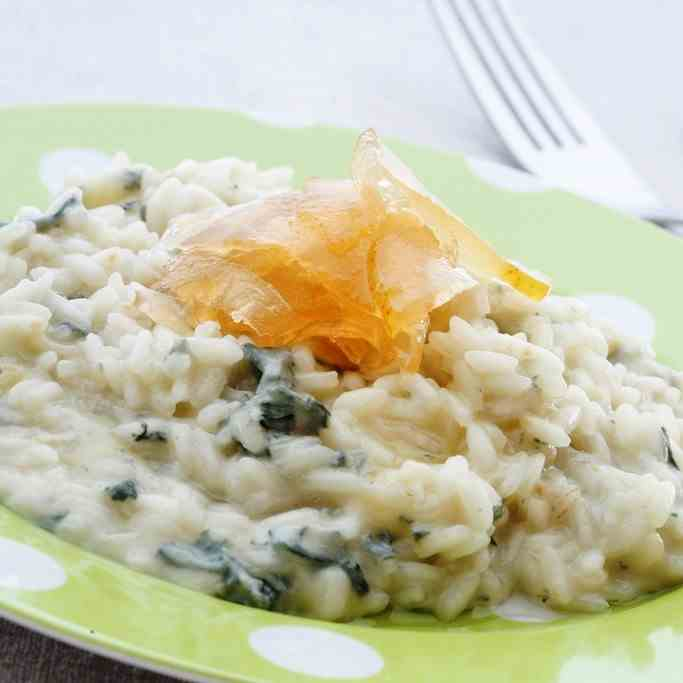 Risotto with Gorgonzola - Pear Mustard