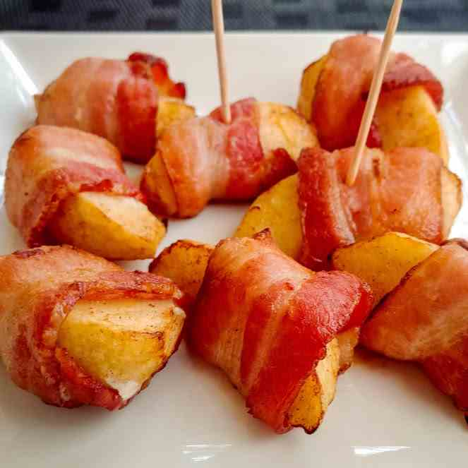 Bacon Wrapped Apple