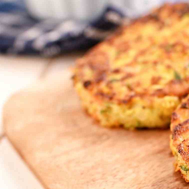 Curry-Spiked Vegetable Latkes