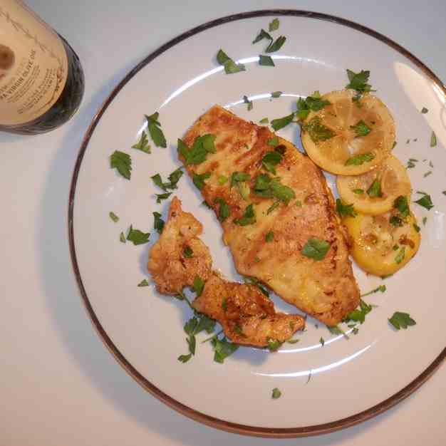 Filet of Sole and Shrimp Francese