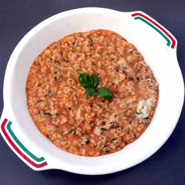 Risotto with Chicken and Mozzarella