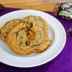 Salted Milky Way Chocolate Chip Cookies
