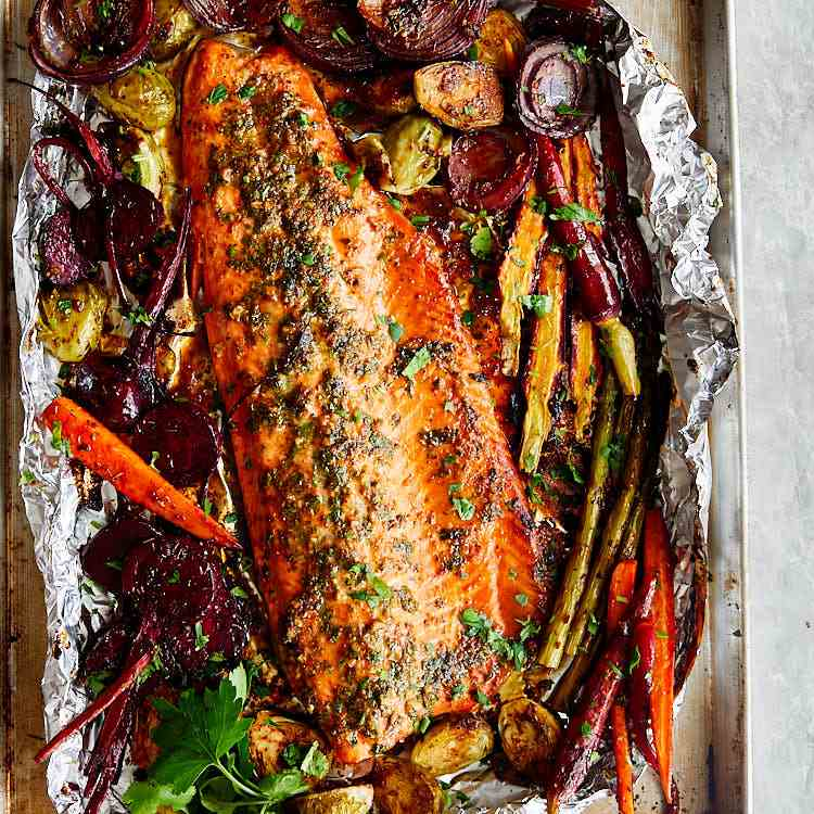 Baked Honey Garlic Steelhead Trout
