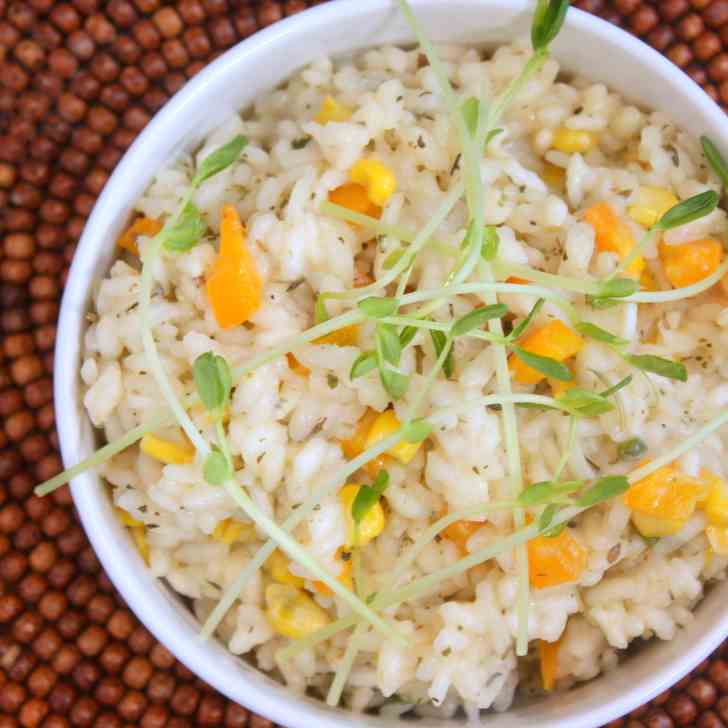 Corn Risotto with Herbes de Provence