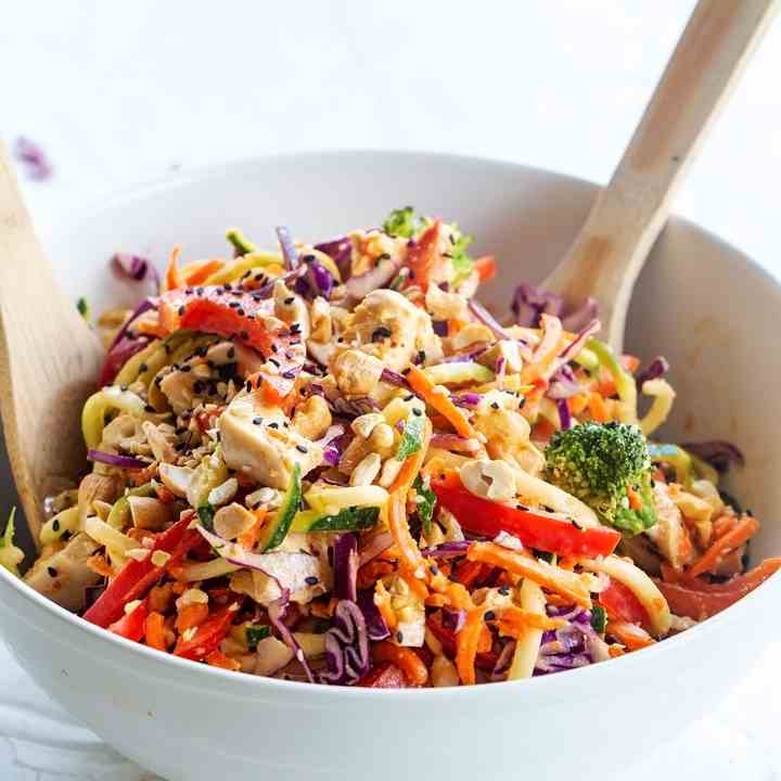 Thai Chicken Veggie Noodle Salad