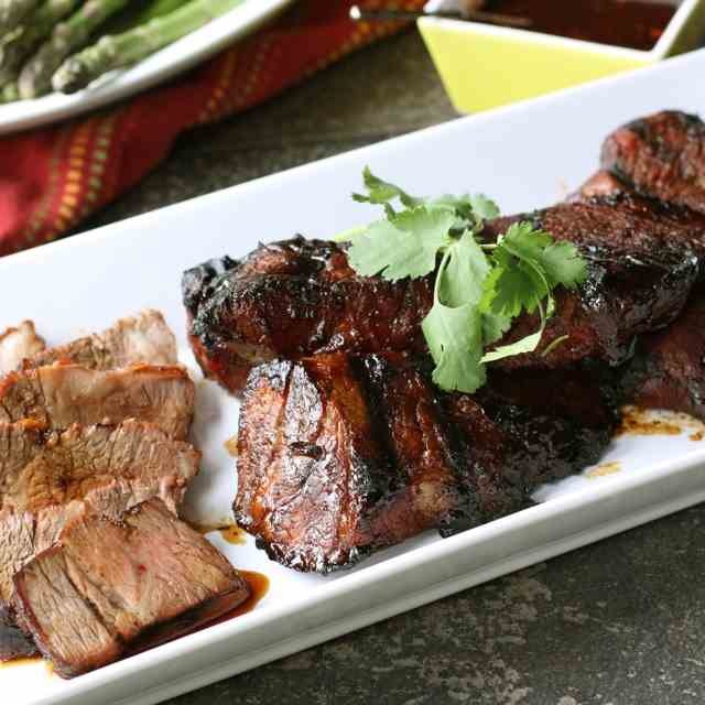 Grilled Tri-Tip Steak w/Molasses Marinade