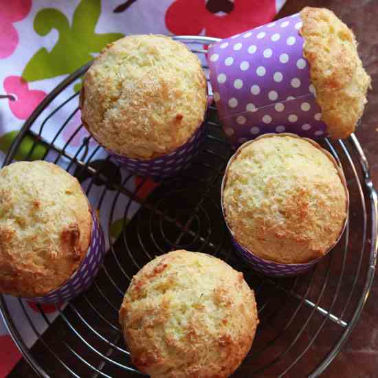 Lime and Coconut Muffins