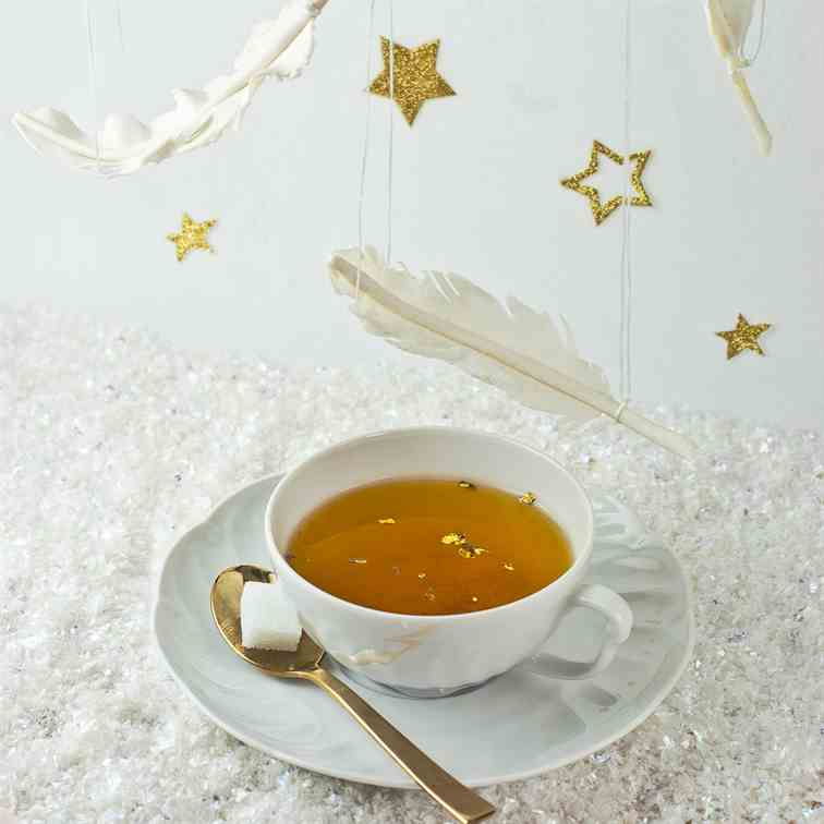 White and golden tea