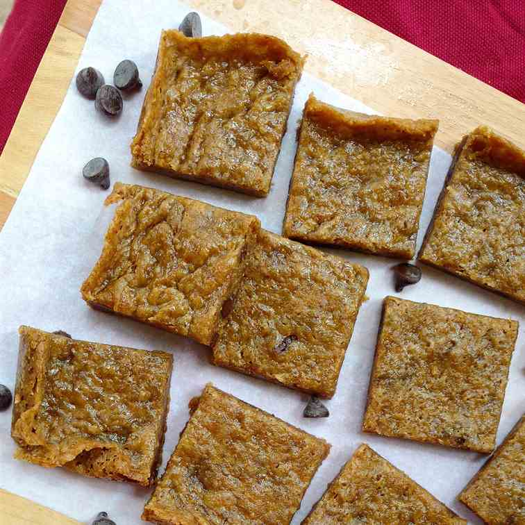 Perfect eggless blondies!