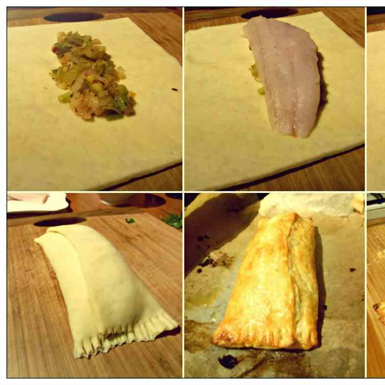 Fish in Puff Pastry (Julia Child style)