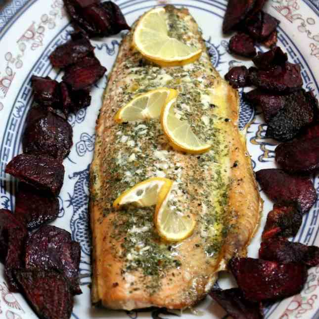 Salmon Trout Fillet from the oven