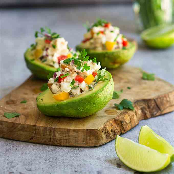 Peruvian stuffed avocados