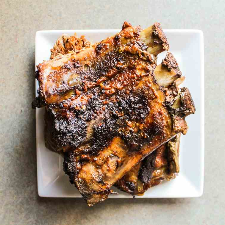 Slow Cooked Ribs with a Spice Rub