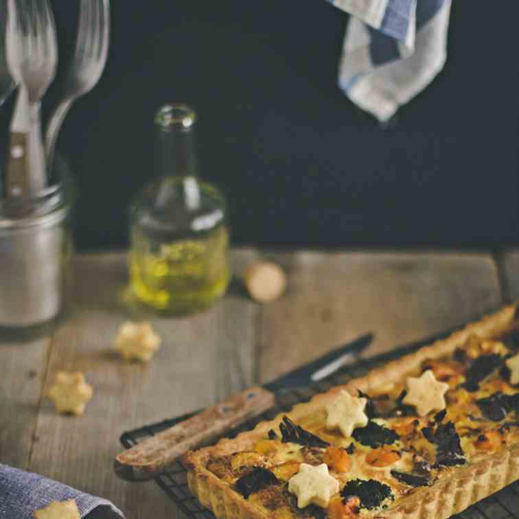 Vegetable quiche for Thanksgiving
